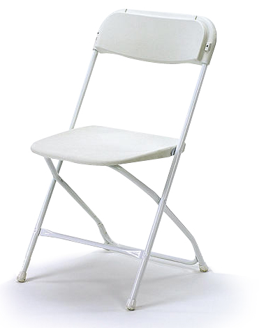 Where to find CHAIR, FOLDING METAL White in Monroe