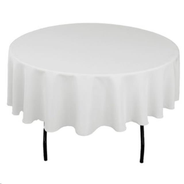 Where to find TABLECLOTH, 90  ROUND WHITE in Monroe
