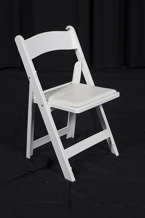 Where to find CHAIR, WHITE RESIN PADDED SEAT in Monroe